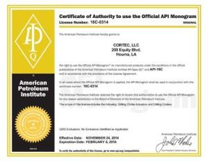 Certificate 16C-0314
