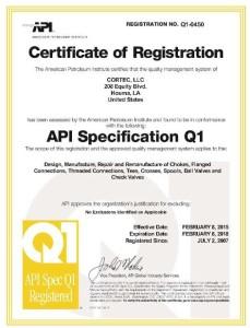 Certificate Q1-0450