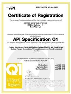 Certificate Q1-3130