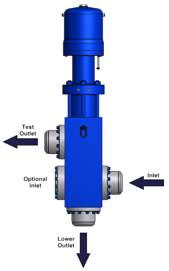 Poppet Diverter Flow Valve
